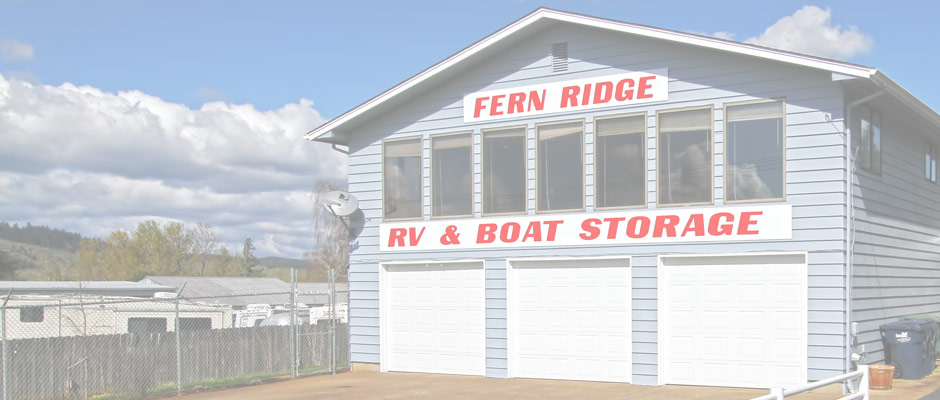 Fern Ridge is your Junction City and Eugene, Oregon Storage Facility of choice for RVs and Boats.